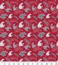 Washington State University Cougars Cotton Fabric-Tone on Tone