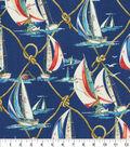 P/K Lifestyles Home Decor 8\u0022x8\u0022 Swatch-On Sail Nautical