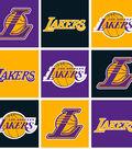 LA Lakers Fleece Fabric 58\u0022-Block