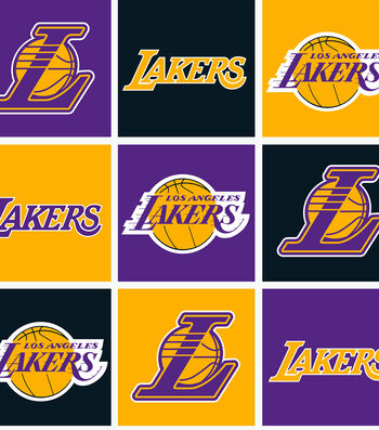 LA Lakers Fleece Fabric -Block