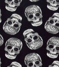 Halloween Cotton Fabric 43\u0022-Tossed Sugar Skulls
