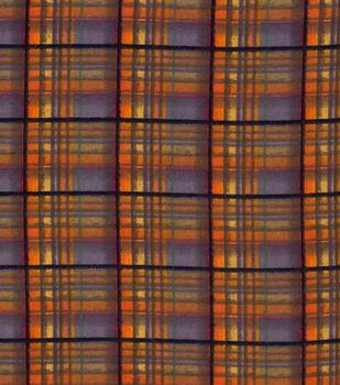 Super Snuggle Flannel Fabric-Fall Harvast Plaid