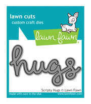 Lawn Fawn Lawn Cuts Custom Craft Die -Scripty Hugs, , hi-res
