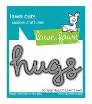 Lawn Fawn Lawn Cuts Custom Craft Die -Scripty Hugs, , hi-res