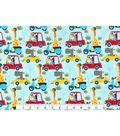 Novelty Cotton Fabric 43\u0022-Safari Friends