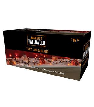 Maker's Halloween Decor 72 ct LED Orange Light Garland