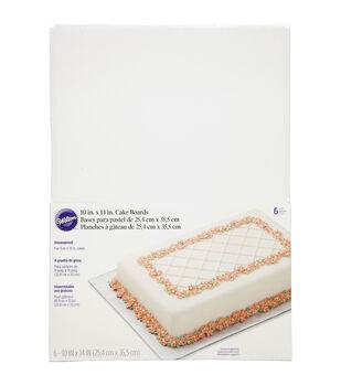 "Wilton 10"" x 14"" Cake Boards-6/pk"