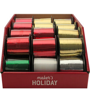 Maker's Holiday Christmas 27 pk Curling Ribbons-Traditional Colors