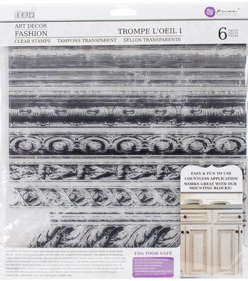 Iron Orchid Designs 6 pk Art Decor Fashion Clear Stamps-Trompe L'oeil 1
