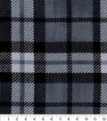 Luxe Flannel Fabric -Ian Plaid Black