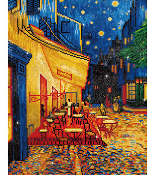 "Diamond Embroidery Facet Art Kit 23.5""X33.5""-Cafe At Night (Van Gogh)"