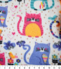 Blizzard Fleece Fabric-Colorful Geometric Cats