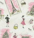 Home Decor 9\u0022x9\u0022 Fabric Swatch-Waverly Tres Chic Black/Pink Fabric