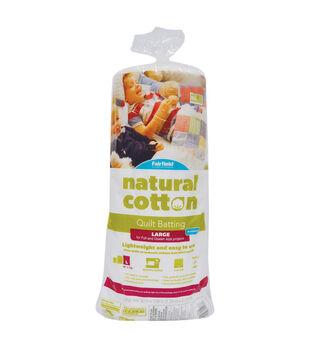 Soft & Toasty Large Natural Cotton Batting
