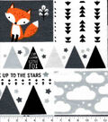 Nursery Flannel Fabric-Fox Patchwork
