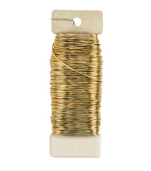 22 Ga Paddle Wire Gold