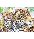 Royal Brush 5\u0022x7\u0022 Colour Pencil By Number Kit-Jaguar Family