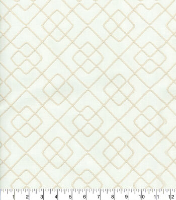Ellen DeGeneres Multi-Purpose Décor Fabric 54''-Gentilly Embroidery Parchment