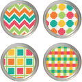 Patterns Jar Topper Counted Cross Stitch Kit-Set Of 4