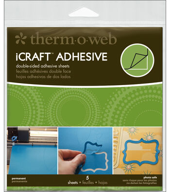 """iCraft Adhesive Sheets-5.75""""X5.75"""" 5/Pkg"""