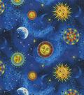 Novelty Cotton Fabric-Sun & Moon Constellations