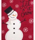 No Sew Fleece Throw 72\u0022-Let it Snowman