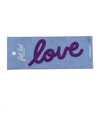 Fab Lab 4.87''x1.87'' Love Iron-on Applique Patch