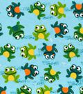 Snuggle Flannel Fabric -Frogs On Watercolor