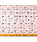 Doodles Juvenile Apparel Fabric-Rainclouds Interlock