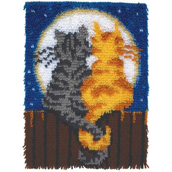 "Wonderart Latch Hook Kit 15""X20""-Moonlight Meow"
