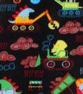 Anti-Pill Fleece Fabric 59\u0022-Dino Construction