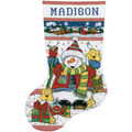Design Works Counted Cross Stitch Kit Snowman Fun Stocking