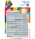 American Crafts Shimelle Box of Crayons Stickers with Foil Accents-Alpha