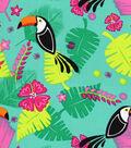 Doodles Rayon Fabric -Toucan Paradise