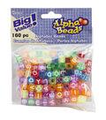 Darice Transparent Multicolored Alphabet Beads 7mm
