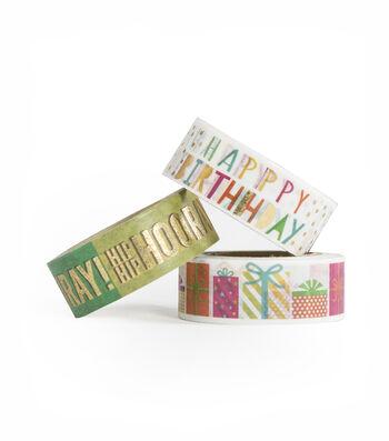 Park Lane 3 pk Washi Tapes-Birthday