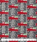 Snuggle Flannel Fabric-All Roads Lead Home Truck