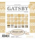 Ultimate Crafts The Ritz 24-sheet 6\u0027\u0027x6\u0027\u0027 Double-sided Paper Pad-Gatsby