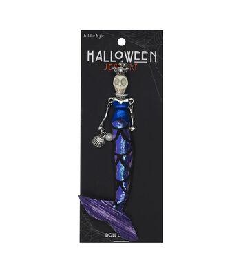 hildie & jo Halloween Doll Pendant-Day Of The Dead Mermaid Delmara