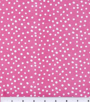 Keepsake Calico Cotton Fabric -Irregular Dots On Rose Pink
