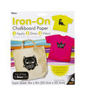 Darice Iron On 8x8 inch Chalkboard Sheet 4 pack