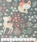 Anti-Pill Plush Fleece Fabric-Baby Doe Floral
