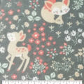Anti-Pill Plush Fleece Fabric-Baby Does & Floral