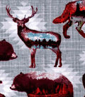 Snuggle Flannel Fabric -Double Exposure Animals