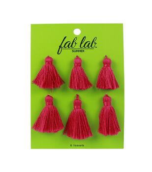 Fab Lab Tassels 6/Pkg-Pink
