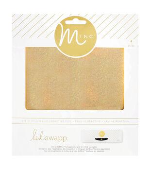 Heidi Swapp Minc 4 pk 6''x6'' Glitter Foil Sheets-Gold