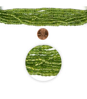 Blue Moon Strung Glass Seed Bead Hank,Lime, , hi-res