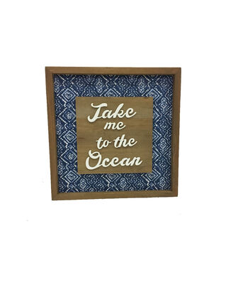Indigo Mist Fabric Wall Decor-Take me to the Ocean