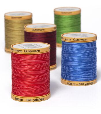 Gutermann Variegated 100/% Cotton Thread 800 meters No 9989