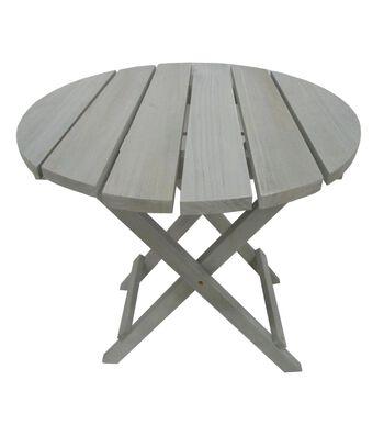 Americana Patriotic Wood Table-Gray